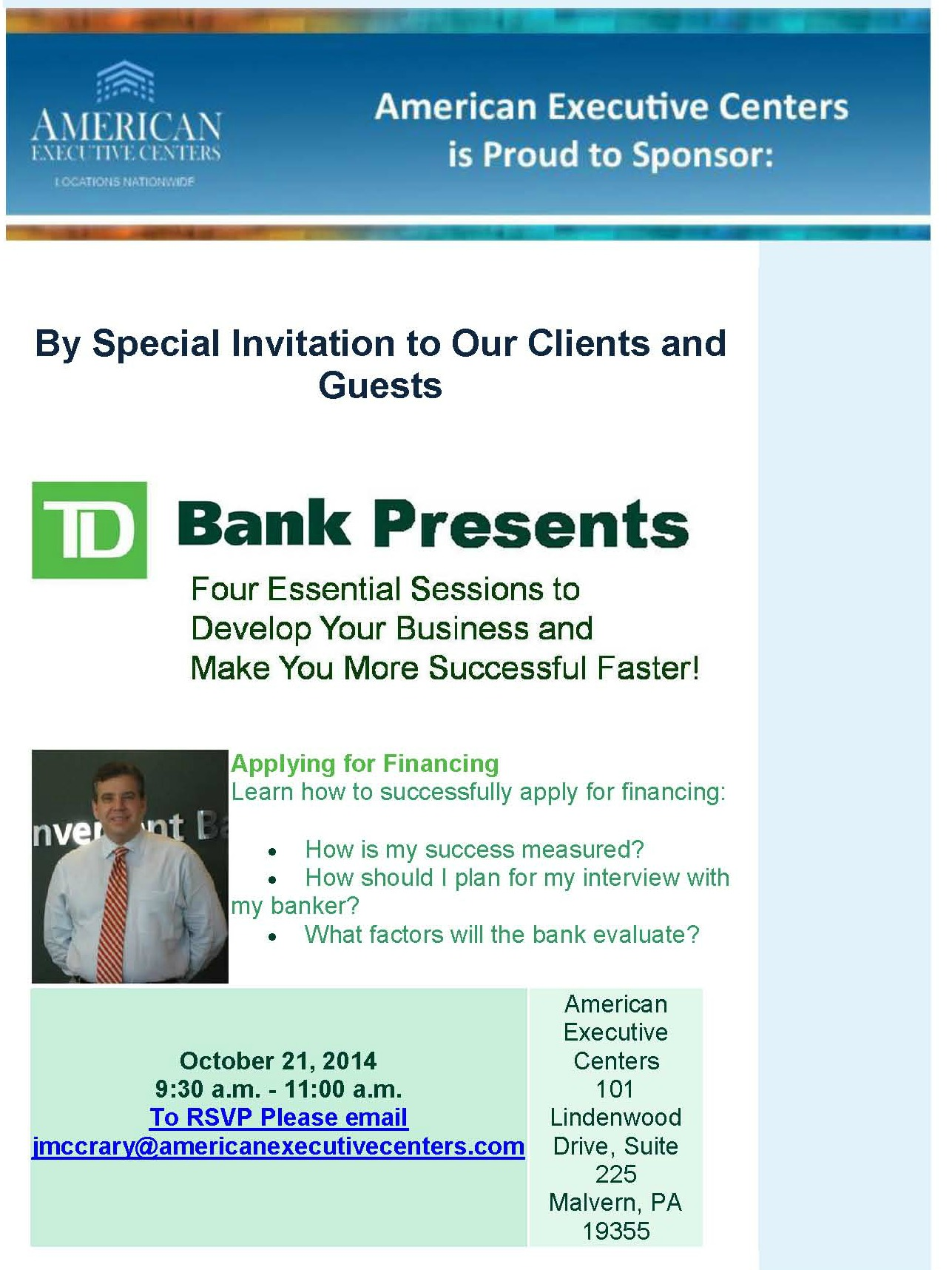 td bank business plan