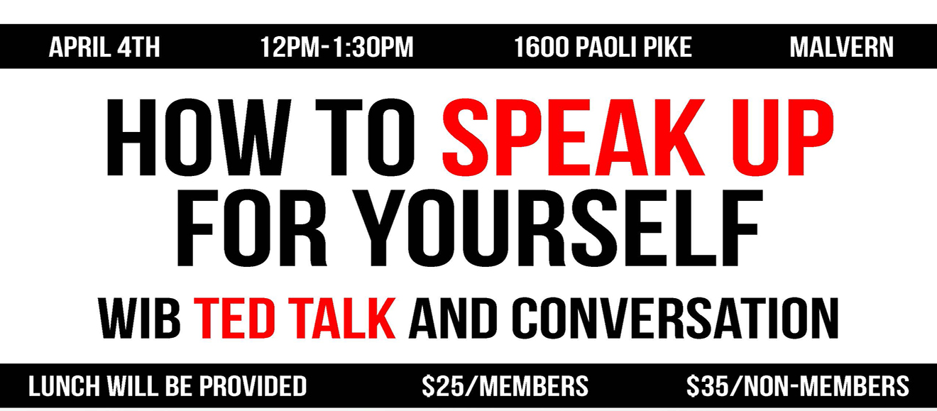 How To Speak Up for Yourself-  WIB TED Talk and Conversation